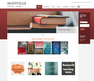 Maysville Public Library website
